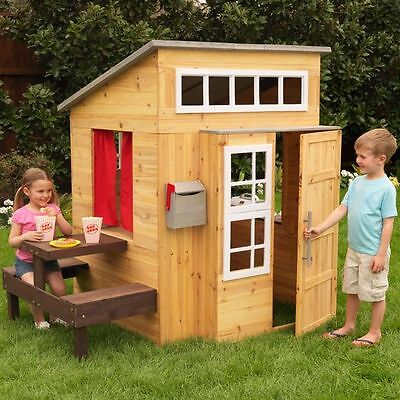 NEW KidKraft Modern Outdoor Cubby House