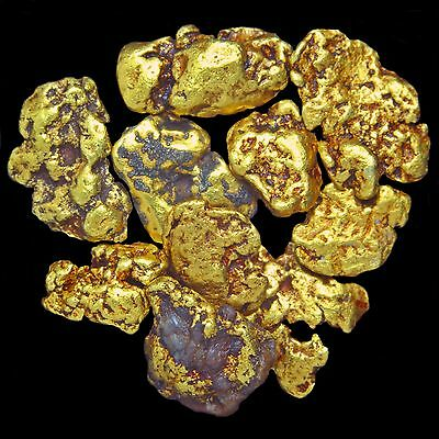 Three (3) Beautiful Gold Nuggets Flakes  from Alaska