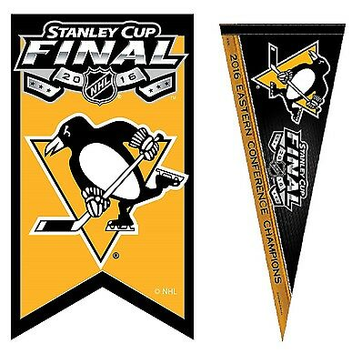 2016 Nhl Stanley Cup Final Pittsburgh Penguins Pin / Pennant Eastern Conference