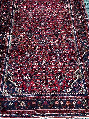 """Antique/Vintage Persian Hamadan Rug Excellent Condition For The Age 4' 6""""x 6' 7"""""""