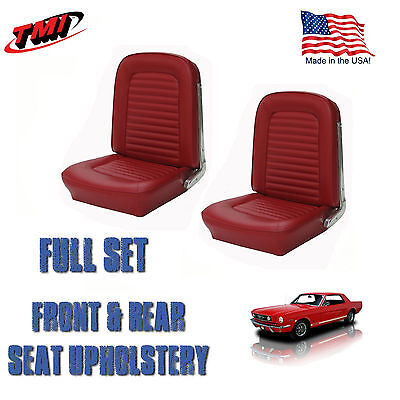 1966 Ford Mustang Front/Rear Seat Upholstery Red Vinyl IN STOCK! Made by TMI