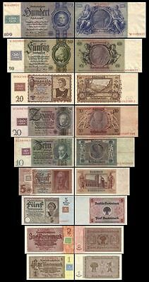 * 1 - 100 Mark German Democratic Republic - Coupon Issue 1948 - 9 Banknotes *