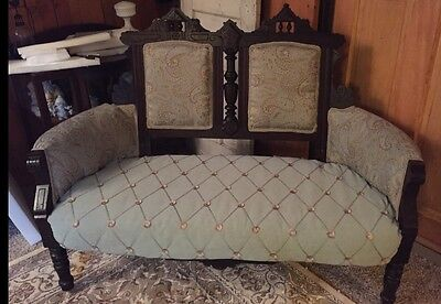 Antique 1800s East Lake Victorian Settee Love Seat
