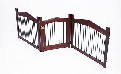 Zoovilla 2-in-1 Configurable Pet Crate and Gate, Large Brown - PH0111751800