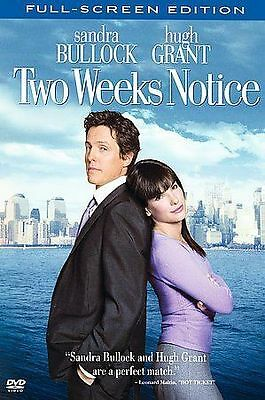 NEW DVD // Two Weeks Notice //Sandra Bullock, Hugh Grant, Alicia Witt, Dana Ivey