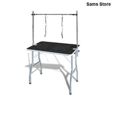 Dog Grooming Table Pet Transportable Mobile Foldable Wash Cats Adjustable Loops