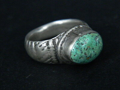 Ancient Silver Ring With Stone Post Medieval 1800 AD No Reserve   #STC361