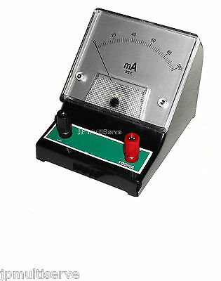 "100mA DC Bench Amp Meter 100 Milliamp ammeter 3.25"" Face"