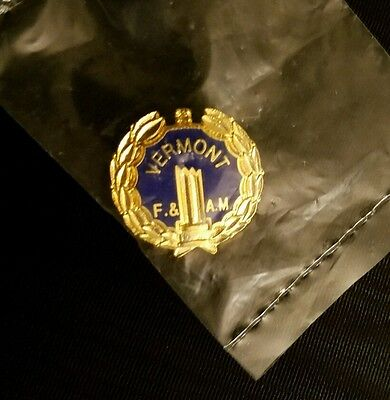 new small VERMONT F. and A.M pin