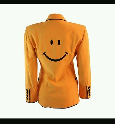 AMAZING Moschino Couture Vintage Smiley Face Blazer..Size 6