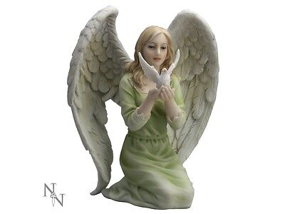 Heavely Peace figure of Angel & Dove 15 cms
