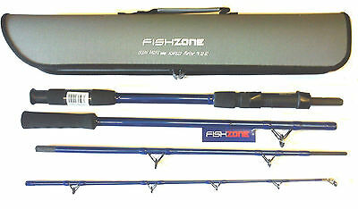 Acapulco Mariner 4-Piece Travel Boat Rod 7ft 20-30lb With Travel Case