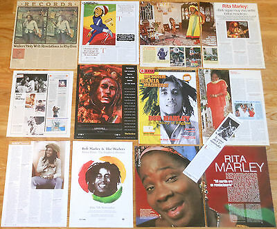 BOB MARLEY clippings 1970s/00s photos magazine articles reggae Rita