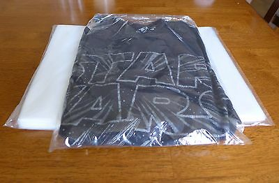 "100 - 9 x 12"" Poly Clear Plastic T-Shirt / Apparel Bags 1 Mil 2"" Back Flap Lock"