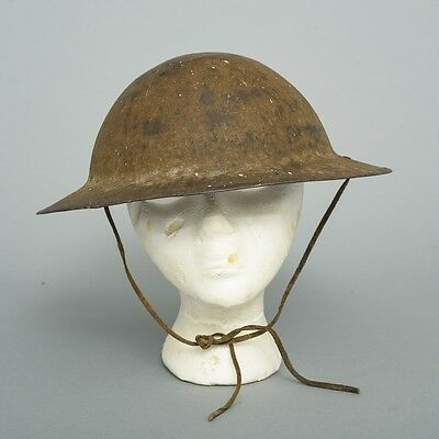 WWI Doughboy Helmet w. Original Liner, Paint, Padding & Leather Straps HS 310