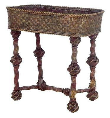Late 19Th Century Swedish Cane Work Plant Stand