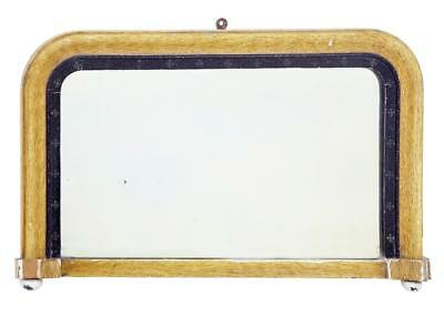 Victorian Small Painted Gesso Overmantle Mirror