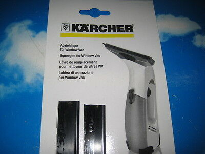 Genuine Karcher Window Vac Replacement Squeegee Blade 170mm, 2pcs
