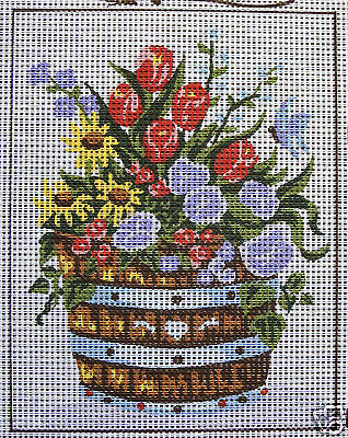 Flowers in Barrel – new tapestry canvas