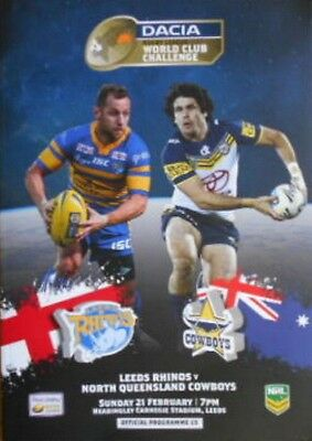 LEEDS RHINOS v NORTH QUEENSLAND COWBOYS  WORLD CLUB CHALLENGE 21st February 2016