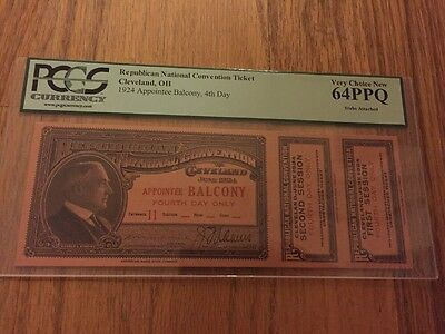 1924 Republican National Convention Appointee Ticket Pres. Calvin Coolidge PCGS
