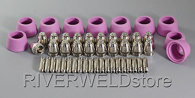 SG55 AG60 Plasma Cutter Cutting Consumables(Tip1.2) 40/50/60A 50pcs Ship From UK