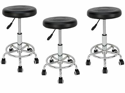 Lab Chair Medical Boss Drafting Stool Rolling Bar Office Furniture Desk -Set 3
