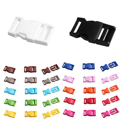 25mm 2PCS Plastic Side Quick Release Buckle Clip For Backpack Bag Belt Strap NEW