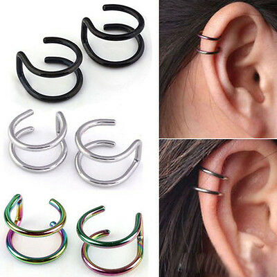 Men's Women's Ear Clip Clip-on Earrings Non-piercing Ear Cartilage Cuff Eardrop