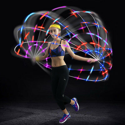 Kuangmi LED Lighting Skipping Speed Jump Rope Fitness Jumping Rope Color Change