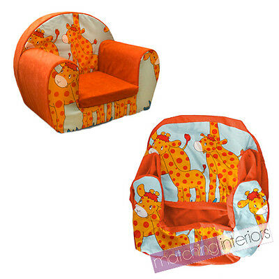 Giraffe Animal Childrens Kids Comfy Foam Chair Cover Only Armchair Seat Chair