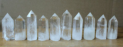 10 Pieces Natural Clear Quartz Crystal Tower Points Polished Healing