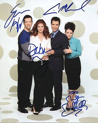 TV series WILL & GRACE cast signed 8x10 photo VERY RARE!