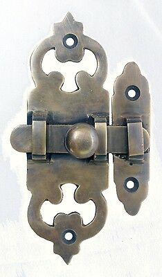 Superb Solid Brass Door Latch Lock Bolt Barn Gate Cabin 4-1/2 inch