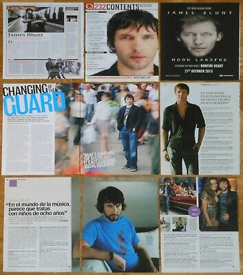 JAMES BLUNT clippings photos magazine articles cuttings