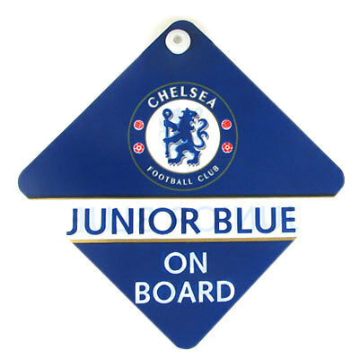 Chelsea Football Club Car Hang Up Junior Blue Baby On Board Official Product CFC
