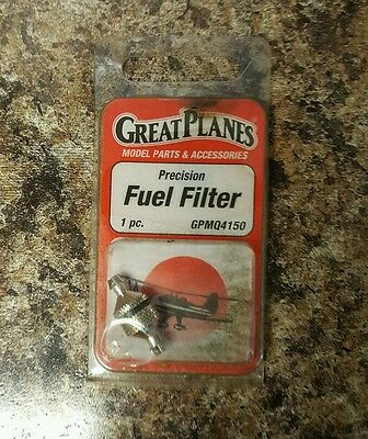 New Sealed Great Planes Gpmq4150 Precision Fuel Filter Free Shipping