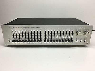 Vintage Realistic Wide Range Stereo Frequency Equalizer Model 31-2000A