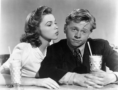Judy Garland & Mickey Rooney Unsigned Photo - 587