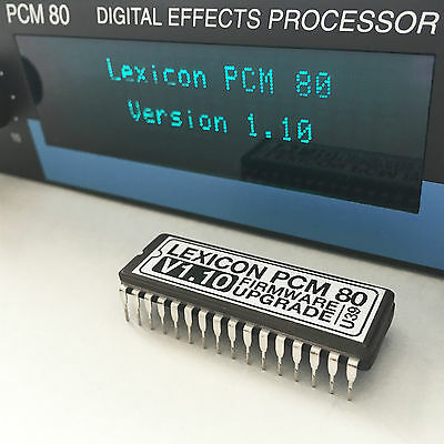 Version 1.10 Update Upgrade Firmware EPROM for Effect PCM-80 Lexicon PCM80