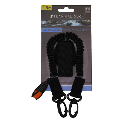 Survival Duck™ 1.5m Super Coiled Kayak Paddle Leash Canoe Accessories Fishing