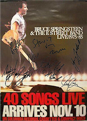 Bruce Springsteen Autographed Facsimile Signed 40 Songs Live Poster