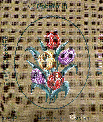 Bunch of Tulips – new Gobelin (DMC) tapestry canvas