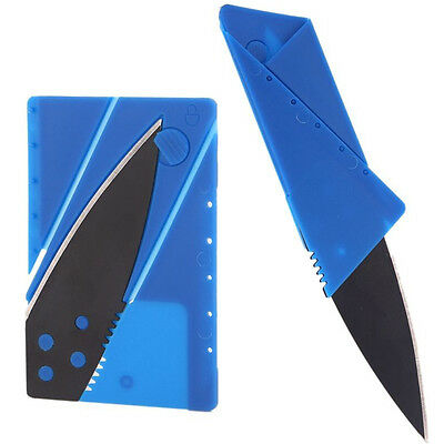 Chic 1PC  Blue Stainless Steel Wallet Credit Card Folding Razor Safety Knife DIY