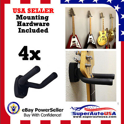 4-PACK Guitar Hanger Hook Holder Wall Mount Display Acoustic Electric US Stock**