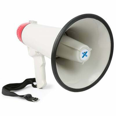 Vexus Audio Megaphone 45Watt Bull Horn with Siren and MP3 Player