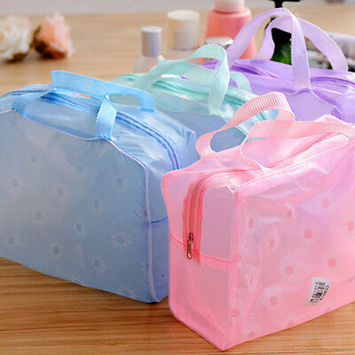 Waterproof Transparent Zip Bathing Pouch Cosmetic Bag Toiletry Plastic Box T170