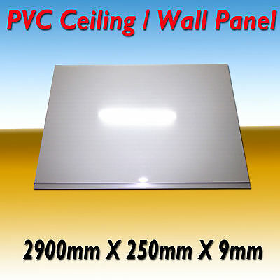 10 X Pvc Wall / Ceiling Panel Water Resistance 2900 X 250 X 9  Gloss White