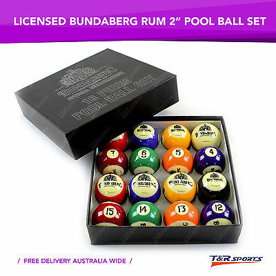 Formula Bundaberg Rum 16x Pool Balls Set for Birthday Fathers Day Gift Free Post