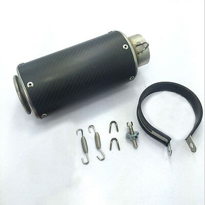 51/60mm Motorcycle Large Displacement Round Carbon Fiber Exhaust Muffler Slip on